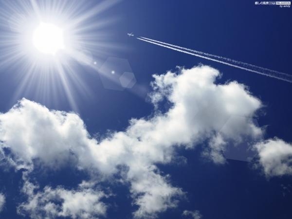 飛行機 雲1
