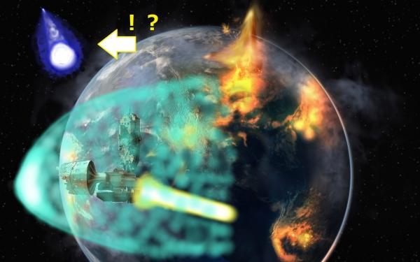 宇宙からの噴出、惑星、見られて45012333、