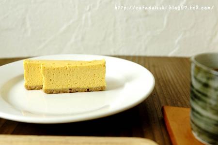 ねじまき雲 陽◇トコロカフェのマンゴーチーズケーキ