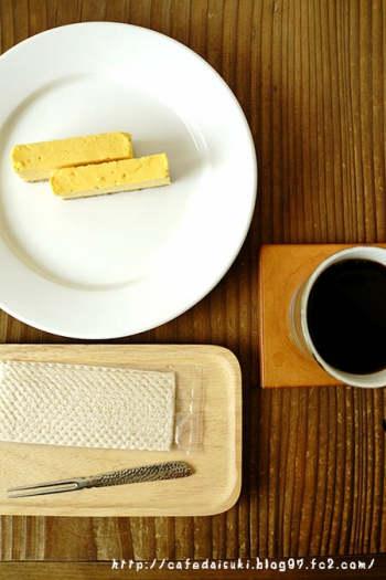 ねじまき雲 陽◇tocoro cafeのマンゴーチーズケーキ