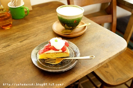 cafe noeud◇フルーツタルト&黒糖きなこラテ