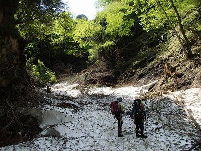 豆焼 雪渓2