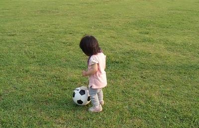 サッカーボールとチーちゃん④20140615