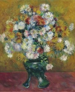 Huguette Clark renoir chrysanthemes