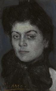 Picasso-1901-Portrait de Lola Ruiz Picasso