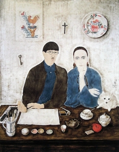 foujita interior-my-wife-and-myself-1923