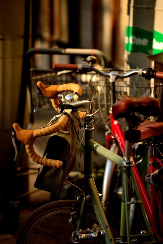 自転車のある風景 ミニベロ
