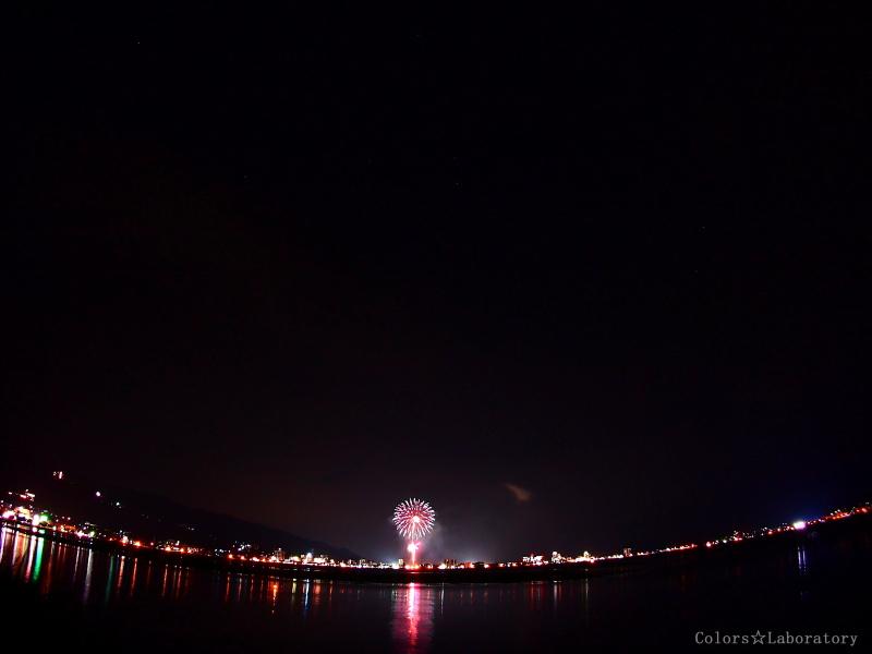 諏訪湖 花火 2