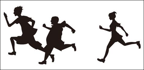 走っている画像