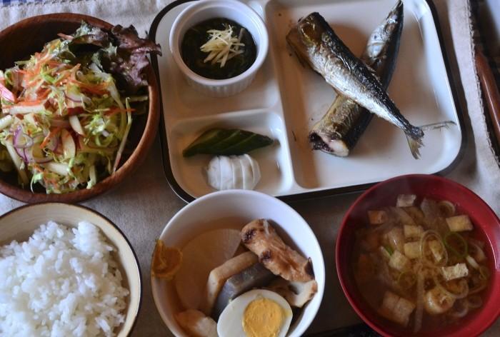 秋刀魚おでん定食