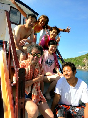タオ島 ダイビング 集合写真