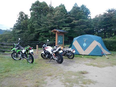 20140914_大山池野営場バイク
