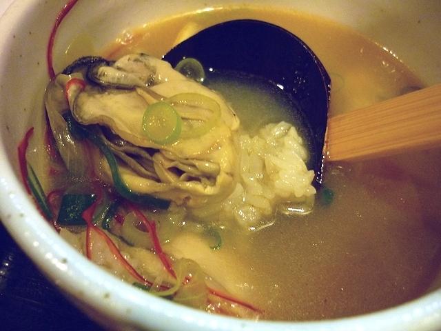 荒木伝次郎 牡蠣塩バターつけ麺の〆リゾット