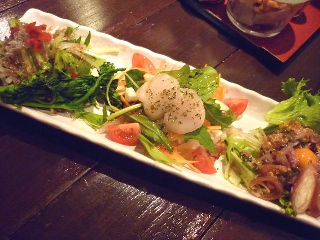 中西君の3品サラダ