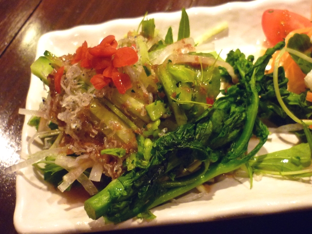 ジャコと水菜のカリカリ和風サラダ