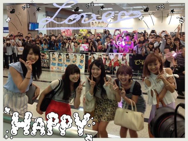 ℃-uteは無事台湾に到着