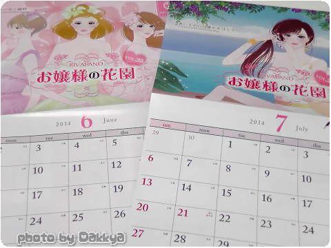 お嬢様酵素ダイエット【カレンダー】