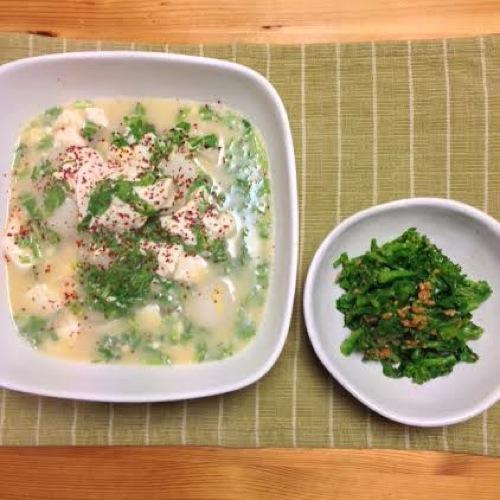 4菜の花とスープ