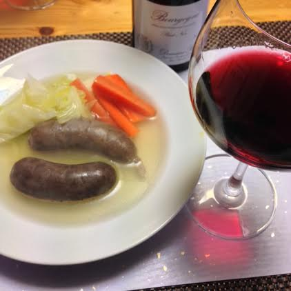 7赤ワインと蝦夷鹿