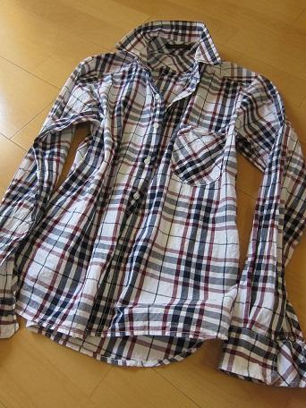 BSチェックシャツ