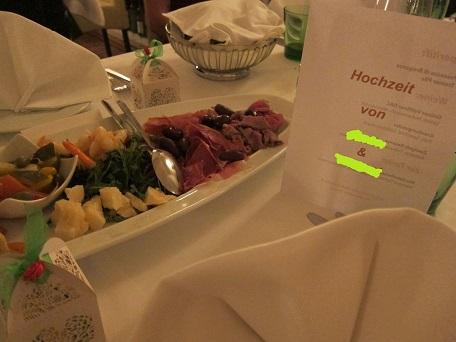 Hochzait dinner 1