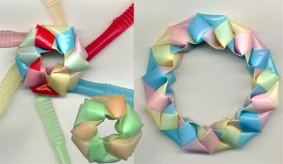 三角玉で輪 作り方0