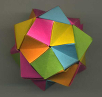 折り紙くす玉をストローで作る5