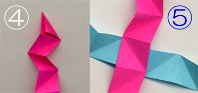 折り紙くす玉をストローで作る2-1