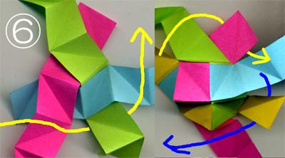 折り紙くす玉をストローで作る2-2