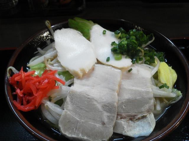 沖縄そば野菜盛り