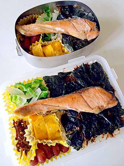 シャケと海苔弁当
