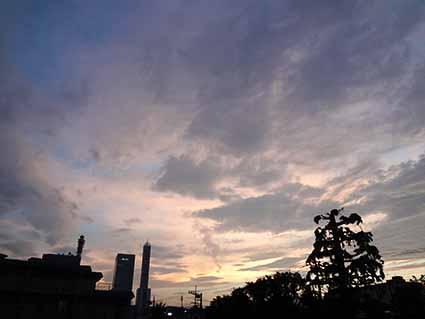7月13日夕焼け