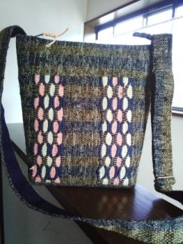 めがね織りバッグ1