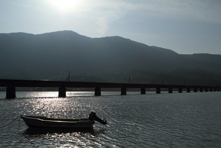 由良川橋梁にて、2