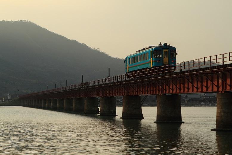由良川橋梁にて、5