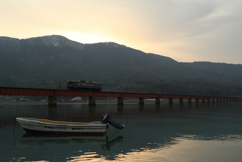 由良川橋梁にて、6