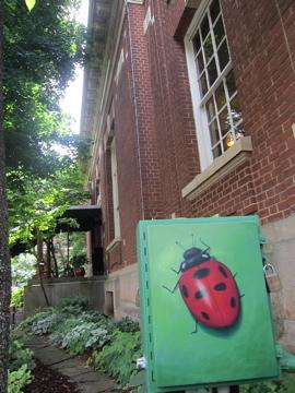7月の青空の下 /街角アート-1, 2014-7-15