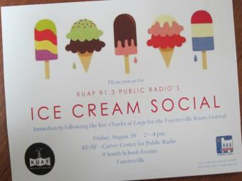 Ice Cream Social @ KUAF-1, 2014-8-30