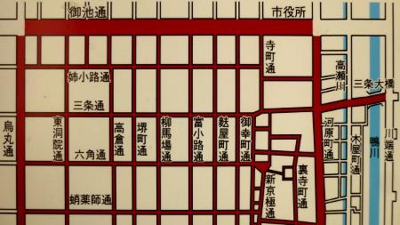寺町の地図