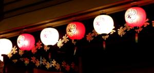 文楽劇場の提灯