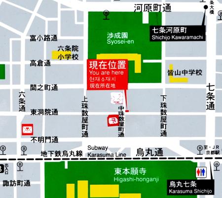 東本願寺周辺図