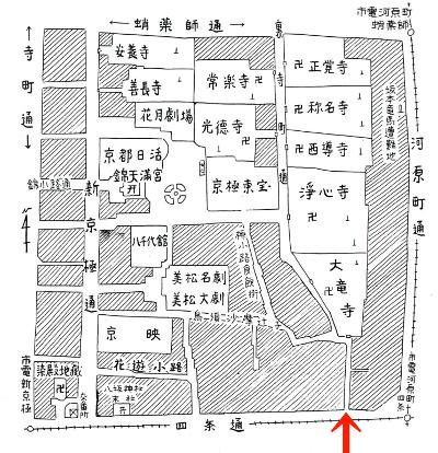 新京極図(『新撰京都名所図会』より)