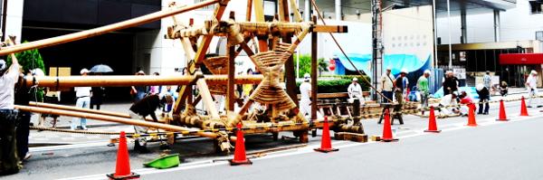 鶏鉾の鉾建て