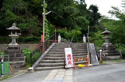 日向神明宮への道