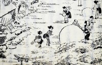 「都林泉名勝図会」より「島原角屋雪興」