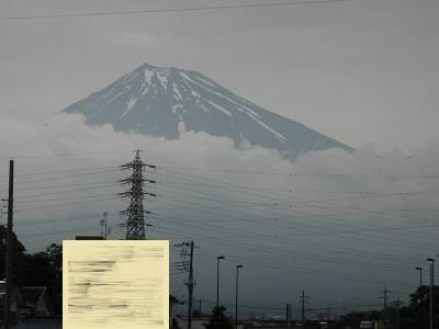 前日の富士山