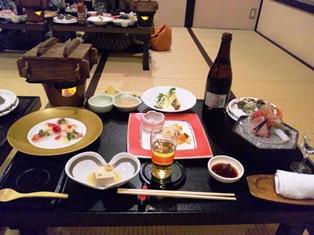 旅館のお食事