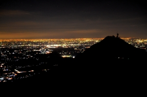 男体山と夜景