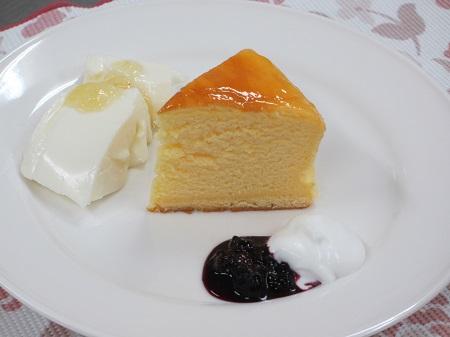 スフレチーズケーキとレアチーズケーキ2