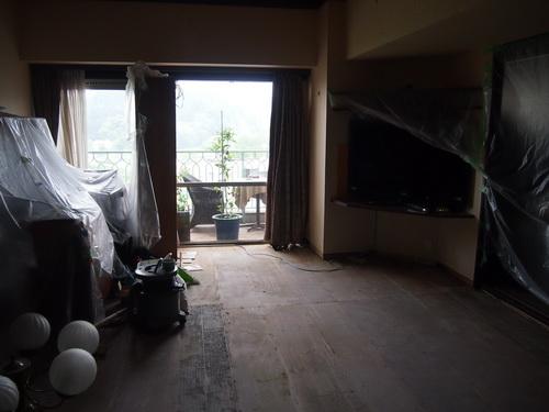 リビングの床修繕工事2